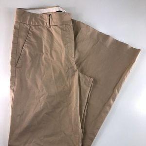 Theory Flat Front Full Leg Tan Khaki Pants CM18